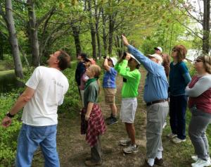 Birders at VFNHP Open Space Day 2015