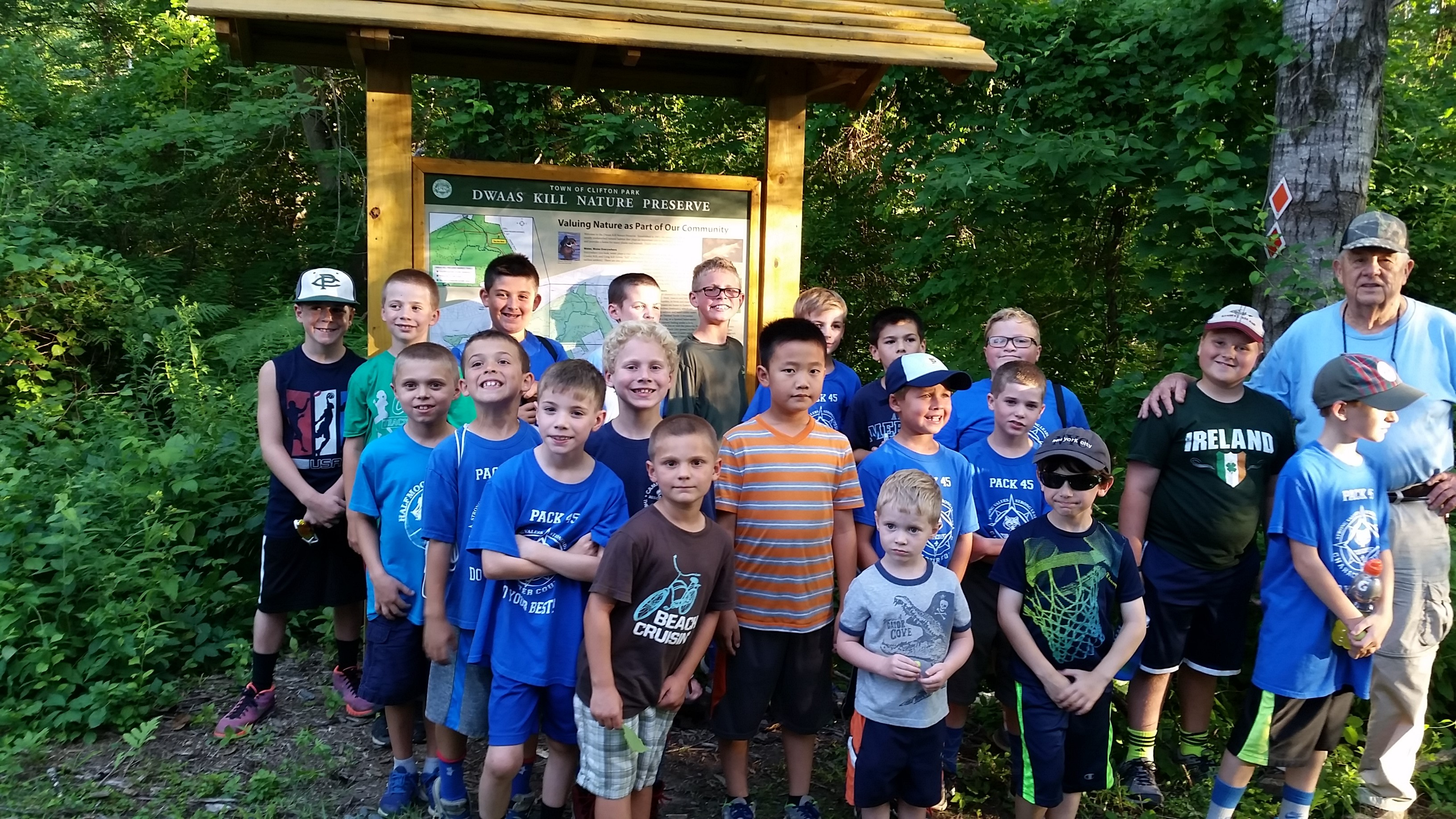 Cub Scouts Learn How to Estimate Tree Age at Dwaas Kill Nature Preserve