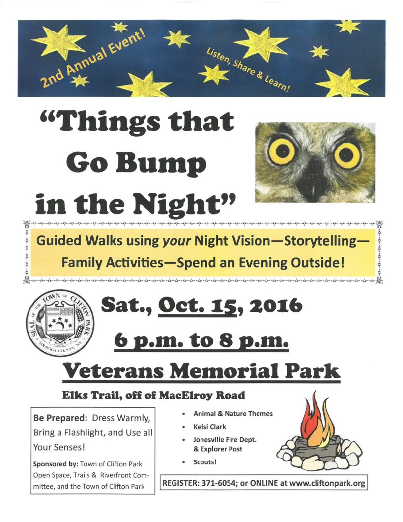 "2nd Annual ""Things that Go Bump in the Night"" is Saturday, Oct. 15"