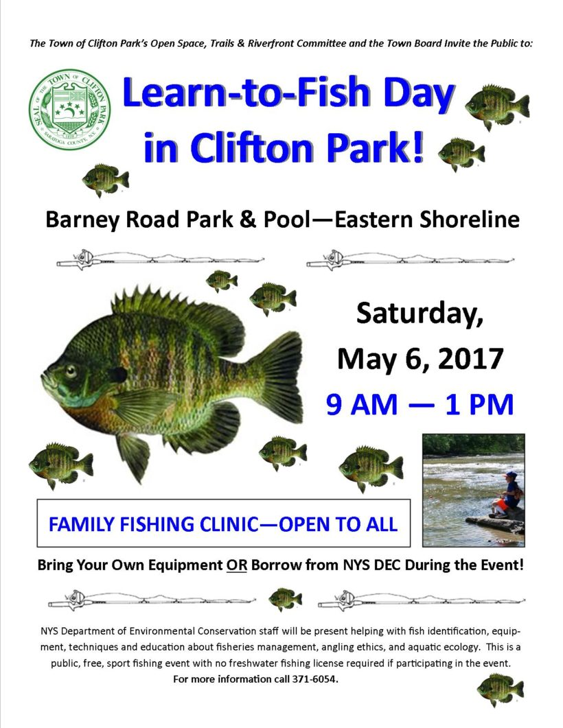 Fish with Us! Learn-to-Fish Day is Saturday, May 6, 2017 at Barney Road Pond!