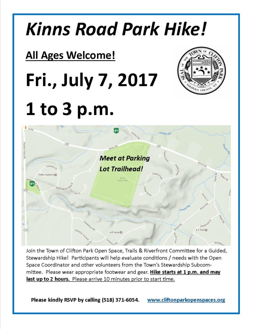 Forest Fun! Hike Kinns Road Park on July 7!