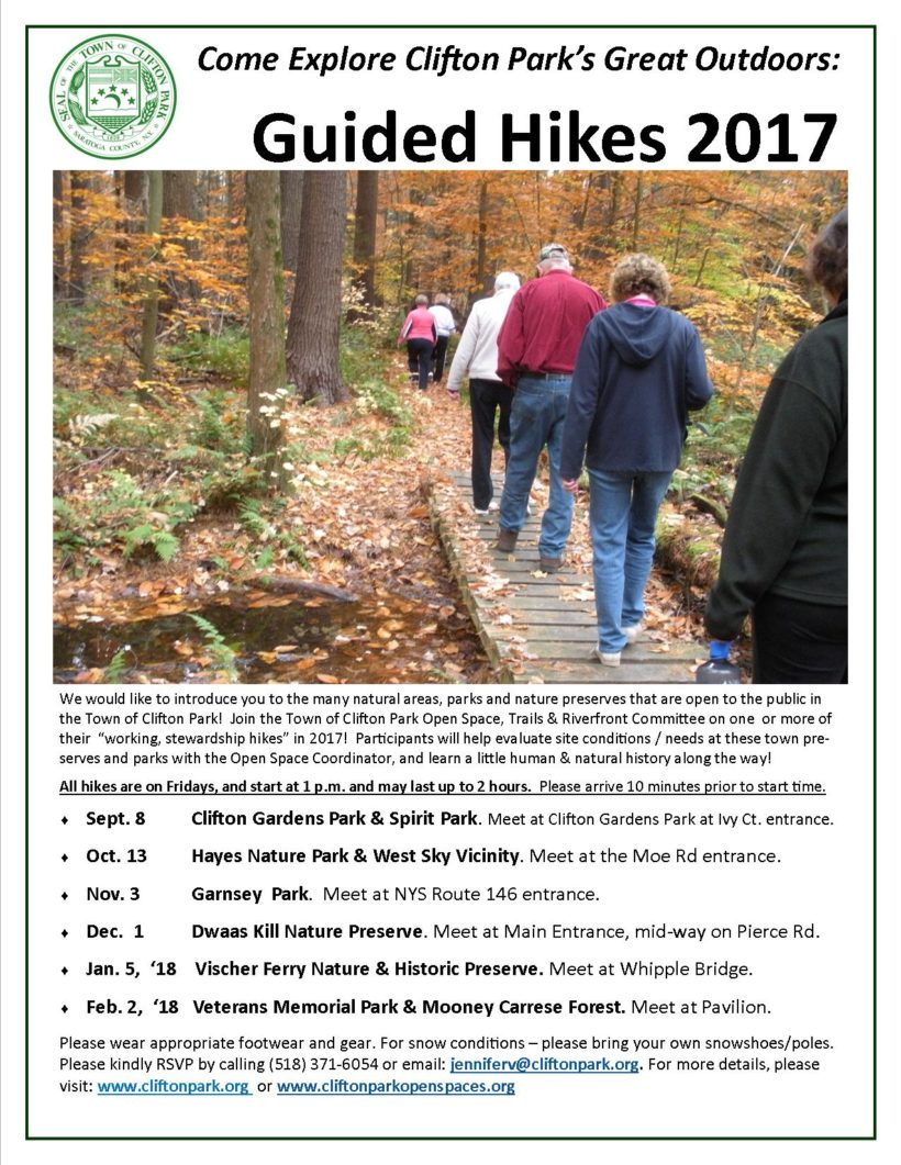 Explore Clifton Park's Outdoors: Join us on a Stewardship Hike!