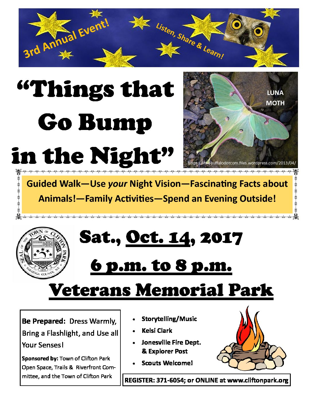 "3rd Annual ""Things that Go Bump in the Night"" is Sat., Oct. 14"