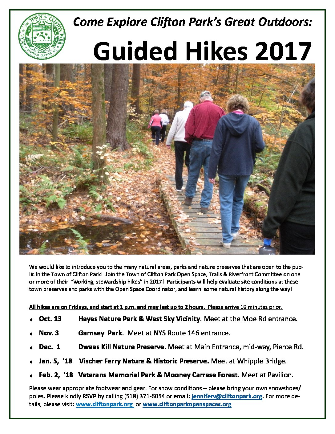 Fall Hikes in Clifton Park!